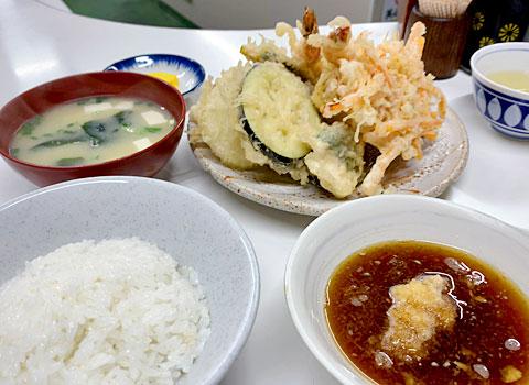 天ぷら定食ふじしま:海老天付天ぷら定食