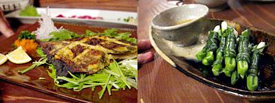 カレイの味噌漬け焼き と 熊本 ぐるぐる