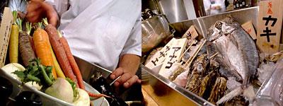 中央区薬院『 炉端 氷炭(ひょうたん) 』有機野菜や鮮魚たち
