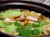 蕾洞 (つぼみどう):軍鶏(しゃも)の炙りすきしゃぶ