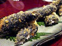 『 磯人 (いそじん) 』 納豆と里芋のいそべ揚げ