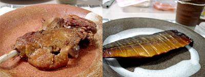 鴨のもも肉のオイル煮と、鯖のスモーク