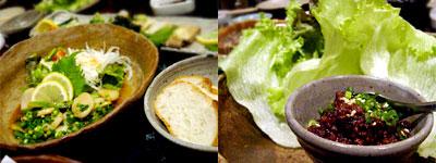 ホテタとアスパラの醤油バター焼き&肉味噌レタス巻き