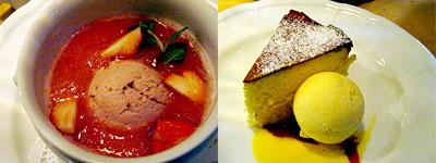 チーズスフレと、いちごのスープ