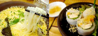 麺はタイ米で作った乾麺